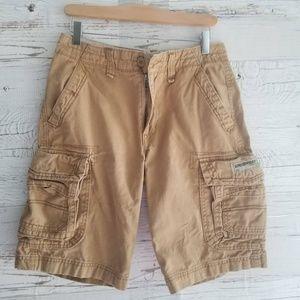 Tan cargo shorts